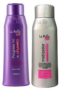 La Bella Liss - Kit Progressiva no Chuveiro Nova Embalagem e Matizador no Chuveiro 500ml cada
