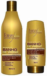 Forever Liss - Banho de Verniz Kit Extra Brilho Shampoo 500ml e Leave-in 150ml
