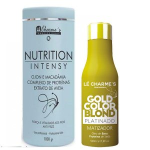 Lé Charme's - Kit Intensy Gold Color Blond 500ml + Nutrition Intensy Máscara de Hidratação Antifrizz 1kg