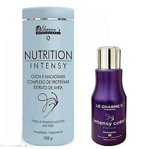 Lé Charme's - Kit Intensy Color Platinum 300ml + Nutrition Intensy Máscara de Hidratação Antifrizz 1kg