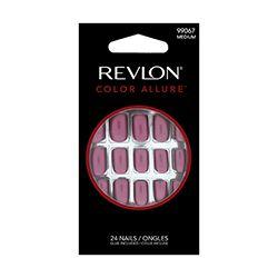 Revlon - Color Allure 24 Unhas Postiças Rosa Metalizado (com cola)
