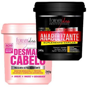 Forever Liss - Desmaia Cabelo 240g + Fortificante Capilar 240g