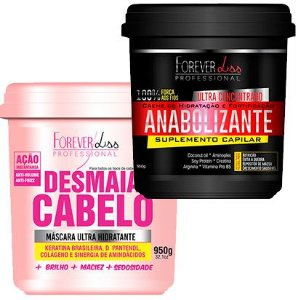 Forever Liss - Desmaia Cabelo 950g + Fortificante Capilar 950g