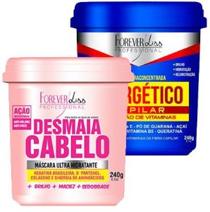 Forever Liss - Desmaia Cabelo 240g + Energético Capilar 240g