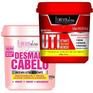 Forever Liss - Desmaia Cabelo 240g + UTI 240g