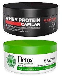 Plancton - Kit Máscara Detox e Whey Protein 250g cada
