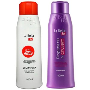 La Bella Liss - Liso Japa Shampoo que Alisa 500ml + Progressiva No Chuveiro 500ml