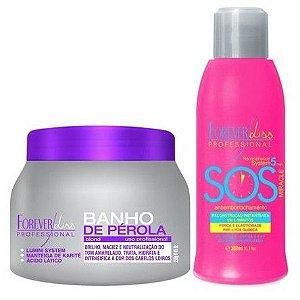 Forever Liss - Banho de Pérola 250g + SOS Antiemborrachamento 300ml