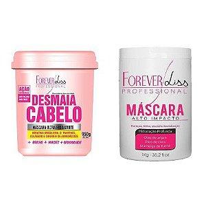 Forever Liss - Desmaia Cabelo 950g + Máscara de Alto Impacto 1kg