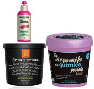 Lola Cosmetics - Kit Dream Cream 150g + Oleosos e Furiosos 120ml + Máscara Eu Sei o Que você Fez na Química Passada 230g