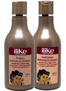 iLike Professional - Hidratação Express kit Shampoo 300ml + Condicionador 300ml