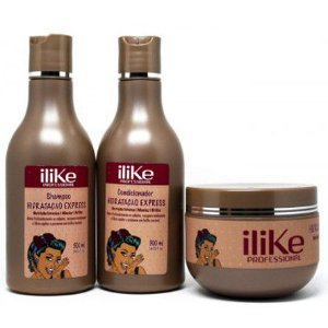iLike Professional - Hidratação Express kit Shampoo 300ml + Condicionador 300ml + Máscara 300g