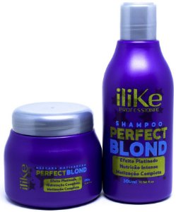 iLike Professional - Perfect Blond Kit Máscara Matizadora 250g + Shampoo 300ml
