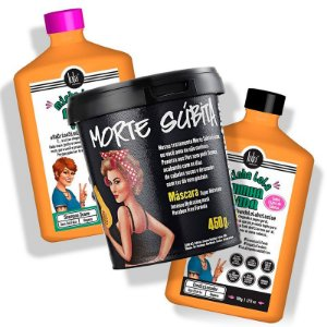 Lola Cosmetics - Minha Lola, Minha Vida Kit Shampoo 500ml + Condicionador 500g + Morte Súbita 450g