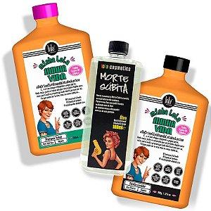 Lola Cosmetics - Minha Lola, Minha Vida Kit Shampoo 500ml + Condicionador 500g + Óleo Morte Súbita 100ml