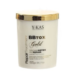 Ykas Hair Technology - BBTOX Gold Máscara Pro Repair Redutor de Volume 1kg