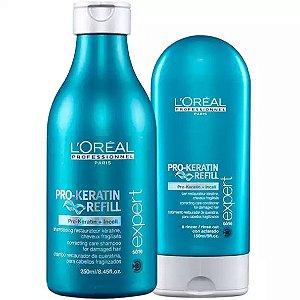 L'Oréal - Pro Keratin Refill kit Shampoo 250ml + Condicionador 150ml