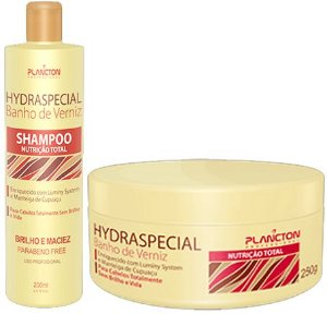 Plancton - Hydraspecial Banho de Verniz  Kit Shampoo 250ml + Máscara 250g