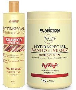 Plancton - Hydraspecial Banho de Verniz  Kit Shampoo 250ml + Máscara 1kg