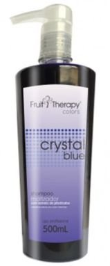 Left - Fruit Therapy Crystal Blue Shampoo Matizador Desamarelador 500ml VENCIMENTO 11/2017