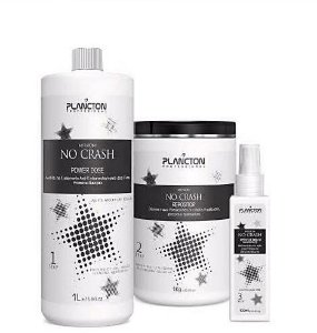 Plancton - No crash Kit 3 Passos Power Dose 1l + Repositor 1kg + Spray de Brilho
