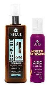 Dihair - Kit Complete one + Mousse Matizador Instantâneo Loiros Médios, Escuros e Grisalhos 150ml