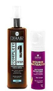Dihair - Kit Complete One + Mousse Matizador Instantâneo Loiros Médios, Escuros e Grisalhos 50ml