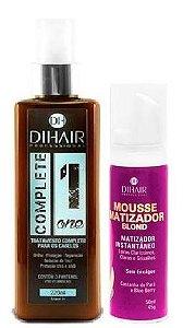 Dihair - Kit Complete One + Mousse Matizador Instantâneo Loiros Claríssimos, Claros e Grisalhos 50ml