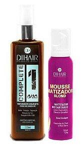Dihair - Kit Complete One + Mousse Matizador Instantâneo Loiros Claríssimos, Claros e Grisalhos 150ml