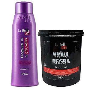 La Bella Liss - Kit Progressiva No Chuveiro 500ml + Viúva Negra Máscara De Reconstrução 240g