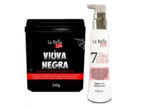 La Bella Liss - Kit Viúva Negra 240g + Leave-in 7 dias Liss 160ml