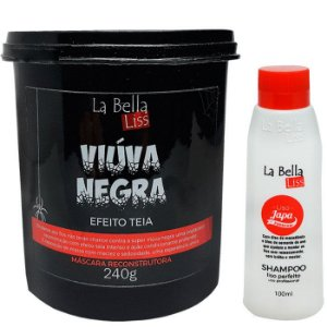 La Bella Liss - Liso Japa Shampoo que Alisa 100ml + Viúva Negra Máscara de Reconstrução 240g