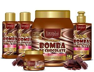 Forever Liss - Bomba de Chocolate Kit Shampoo 300ml + Condicionador 300ml + Creme de Pentear 300 ml + Máscaras 1kg e 250g
