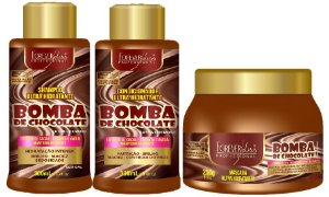 Forever Liss - Bomba de Chocolate Shampoo 300ml + Condicionador 300ml + Máscara 250g