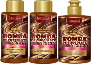 Forever Liss - Bomba de Chocolate Shampoo 300ml + Condicionador 300ml + Creme de Pentear 300g