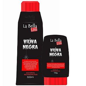 La Bella Liss - Viúva Negra Shampoo 500ml e Leave-in 150g Reconstrução