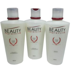 Beauty Impressive - Kit Manutenção Home Care Shampoo, Condicionador e Leave-in 250ml cada