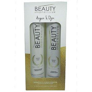 Beauty Impressive - Gold Plus Shampoo e Condicionador Manutenção 500ml cada