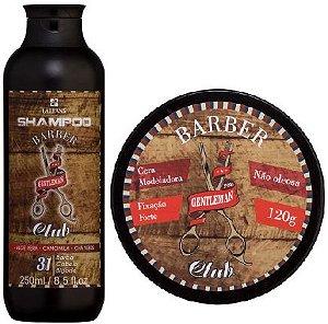 Lattans - Barber Club Shampoo Barba, Cabelo e Bigode 250ml + Cera Modeladora Extra Forte 120g
