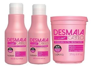 For Beauty - Desmaia Cabelo Kit Shampoo, Máscara 250g, Leave-in Ultra Hidratante