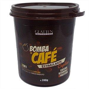 Glatten Professional - Bomba de Café Máscara Estimulante Capilar 240g