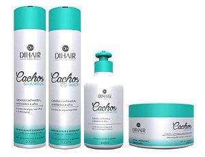 DiHair - Cachos Kit Shampoo 300ml + Co Wash 300ml + Máscara 250g + Creme Ativador 300ml