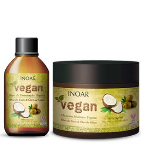 Inoar - Vegan Kit Multiuso Máscara 500g e Leave-in 300ml