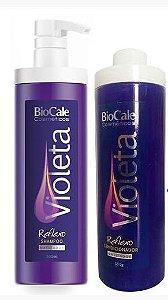 Biocale - Violeta Reflexo Matizador Kit Shampoo e Condicionador 500ml cada