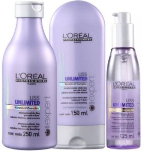 L' Oréal - Liss Unlimited Kit Shampoo 250ml + Condicionador 150ml + Óleo Potencializador de Brilho 125ml