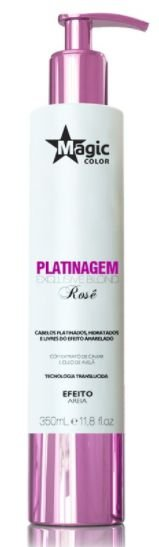 Magic Color - Platinagem Exclusive Bond Rosê Efeito Loiro Irisado 350ml