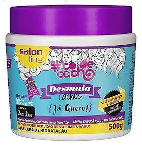 Salon Line - #To de Cacho Máscara de Hidratação Desmaia Cachos Já que Quero 500g