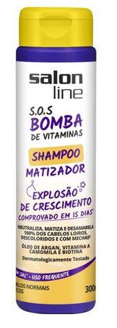 Salon Line - SOS Bomba de Vitaminas Explosão de Crescimento Shampoo Matizador 300 ml