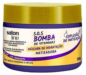 Salon Line - SOS Bomba Máscara de Hidratação Matizador 300g Cabelos Normais a Secos