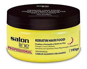 Salon Line - Keratin Hair Food Finalizador 195g Queratina Cabelos Alisados e Relaxados